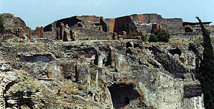 an analysis of the ancient city of pompeii An eruption of mount vesuvius (background) in ad 79 buried the ancient roman city of pompeii under volcanic ash and rock the world heritage site is now the scene of an ambitious restoration project.